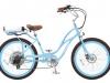 Pedego Cruiser e-Bike Damenmodell - hellblau ist ein echter Eyecatcher