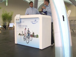 RWE Stand E-Bikes on Tour