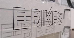 Schriftzug E-Bikes