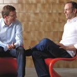 Markus Riese und Heiko Müller, Geschäftsführer riese und müller, im Gespräch
