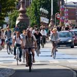 Sieht es bei uns auch bald so aus? Fahrräder und e-Bikes in der Rushhour (Foto: ECF)