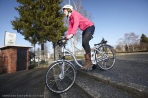 Mit E-Bikes Treppen überwinden