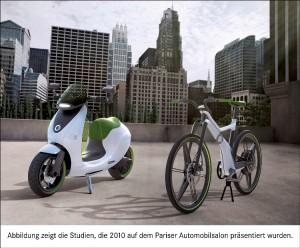 Zweirad-Studien smart ebike und smart escooter