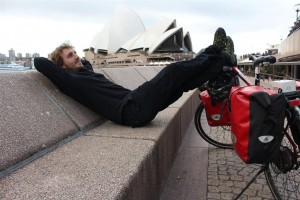Maximilian Semsch zufrieden nach 16.000 km auf dem E-Bike