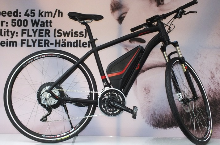flyer e bike mit 500 watt motor. Black Bedroom Furniture Sets. Home Design Ideas