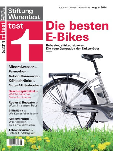 e bike test 2014 stiftung warentest mit zweifelhaften. Black Bedroom Furniture Sets. Home Design Ideas