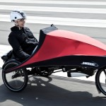 Mit Regenschutz ideal für Langstrecken-Pendler: Das Liege-S-Pedelec von Hase (Klimax 5K)
