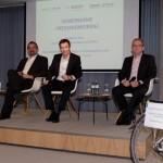 Pressekonferenz Pedelec-Test der Stiftung Warentest von links: Mathias Seidler, Kurt Schär, Claus Fleischer, Siegfried Neuberger